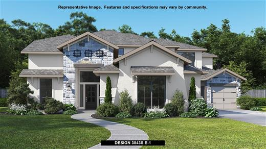 New Home Design, 3,843 sq. ft., 5 bed / 4.5 bath, 3-car garage