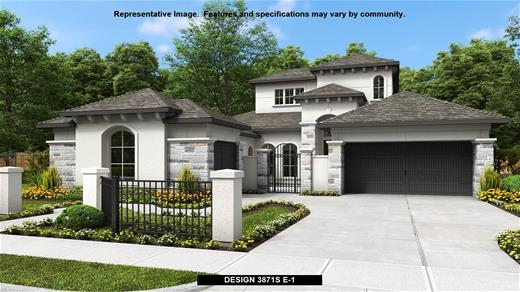 New Home Design, 3,871 sq. ft., 4 bed / 3.* bath, 3-car garage