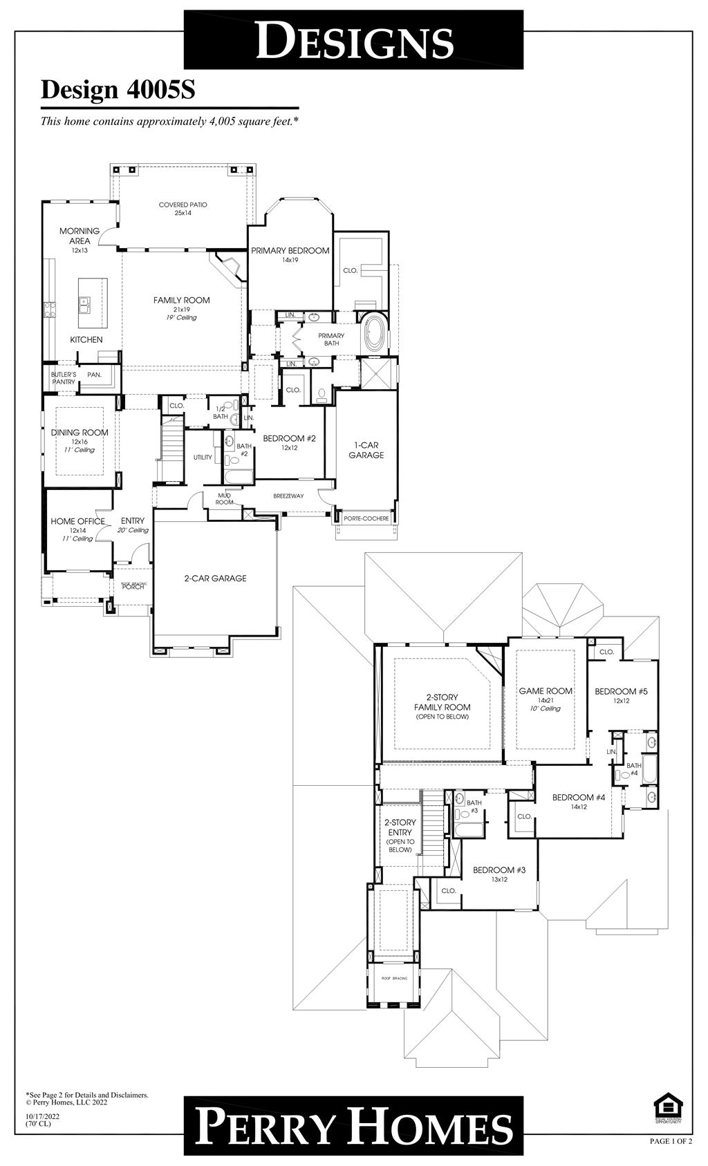 Floor Plan for 4005S