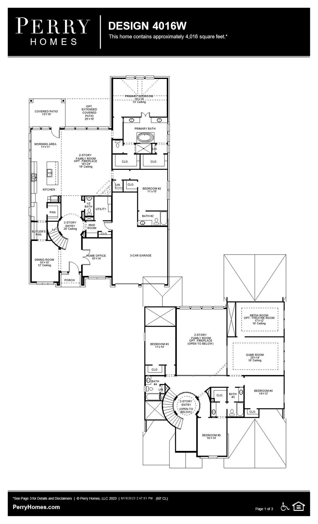 Floor Plan for 4016W
