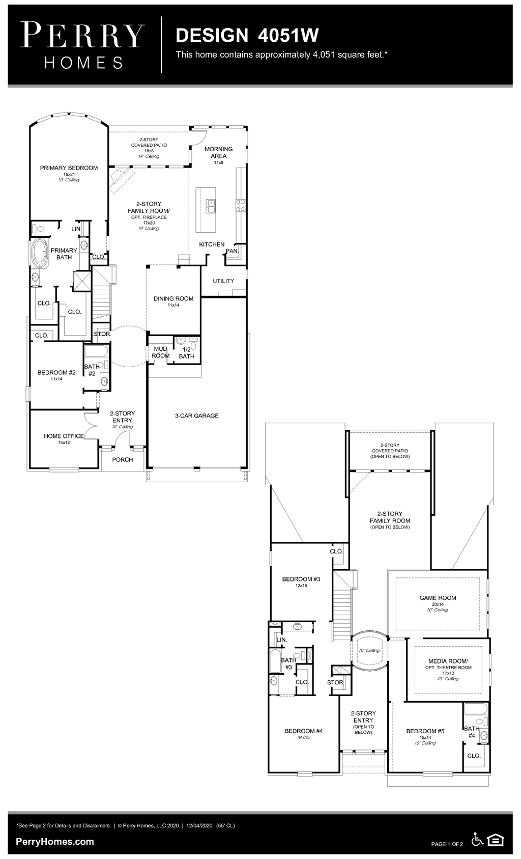 Floor Plan for 4051W