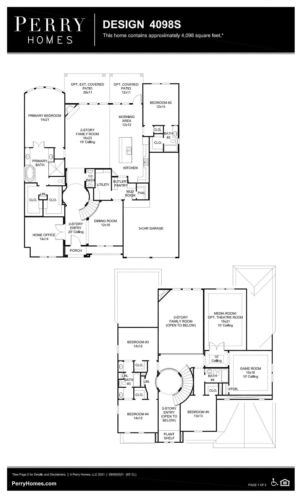 Floor Plan for 4098S