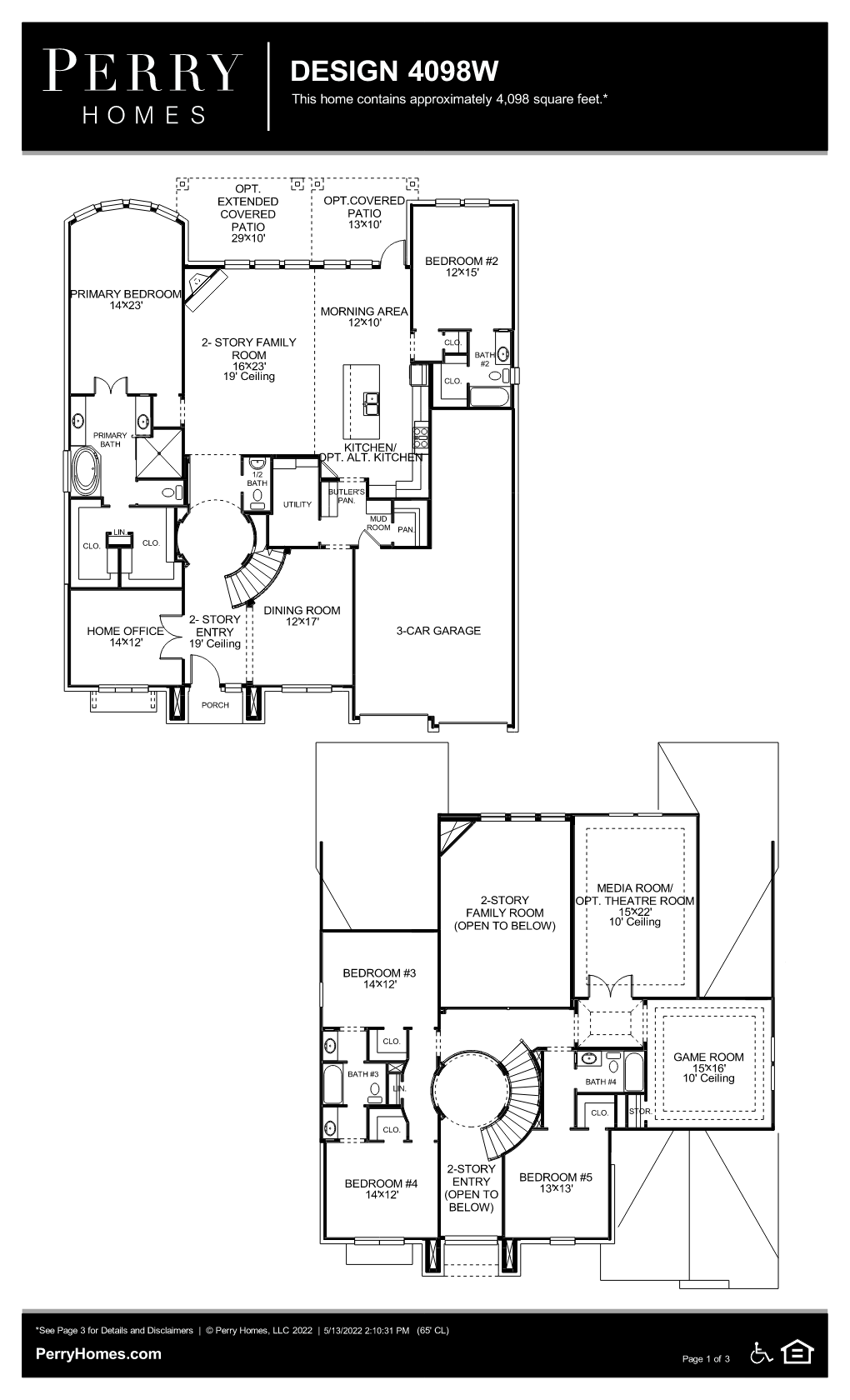 Floor Plan for 4098W