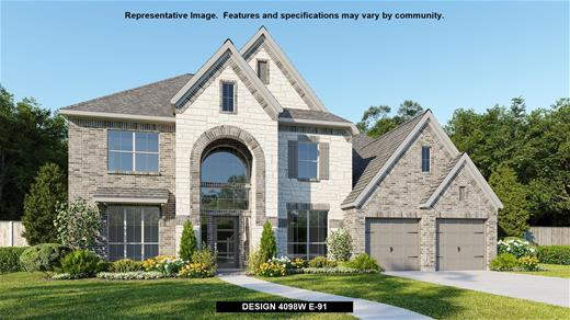 New Home Design, 4,098 sq. ft., 5 bed / 4.5 bath, 4-car garage