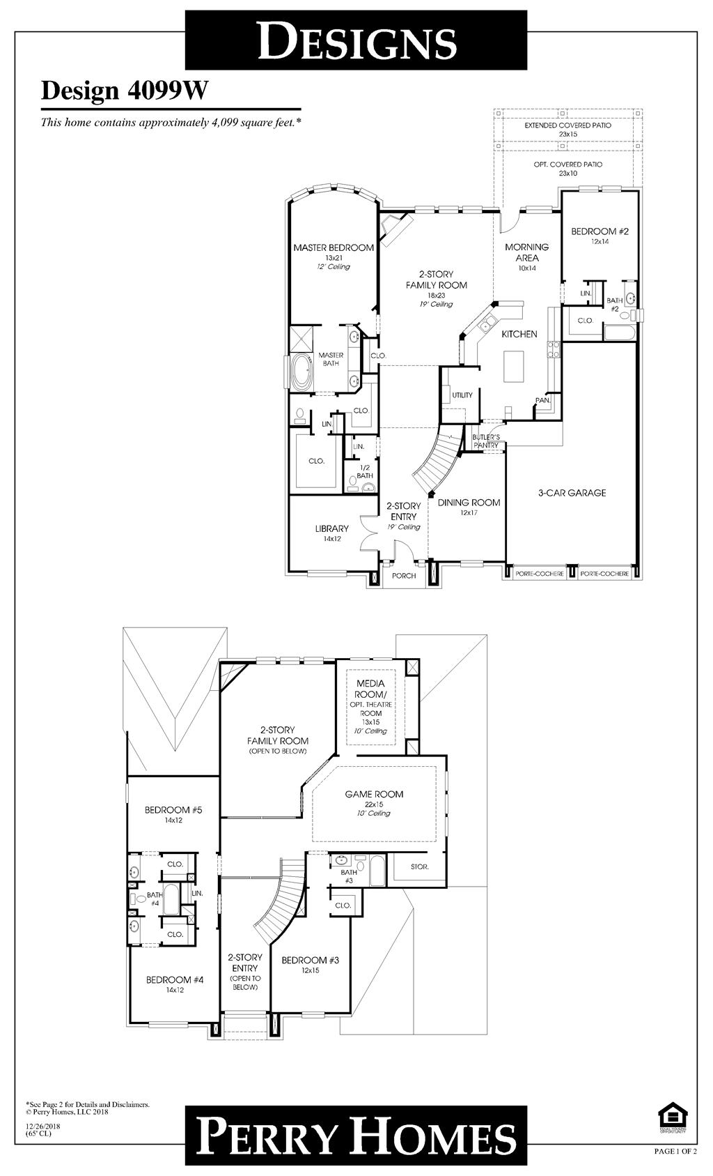 Floor Plan for 4099W