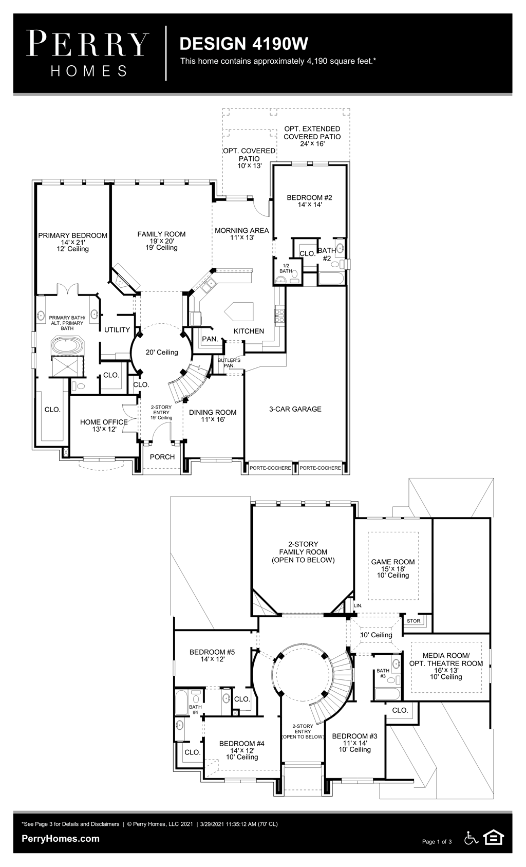 Floor Plan for 4190W