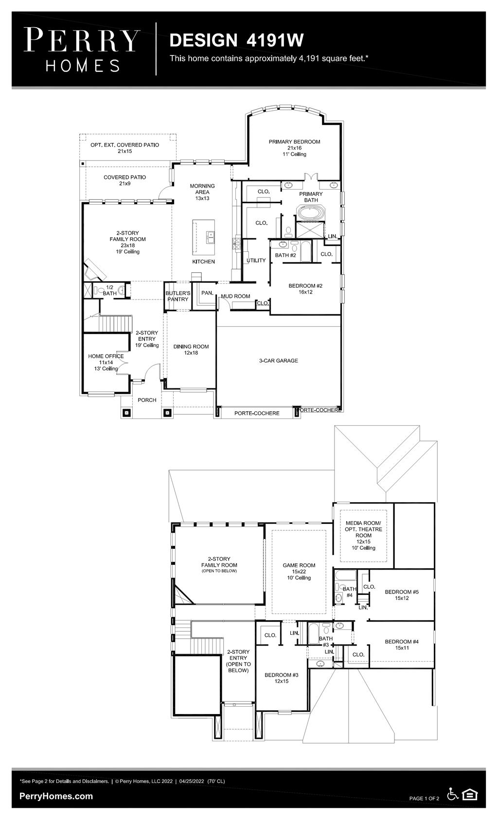 Floor Plan for 4191W