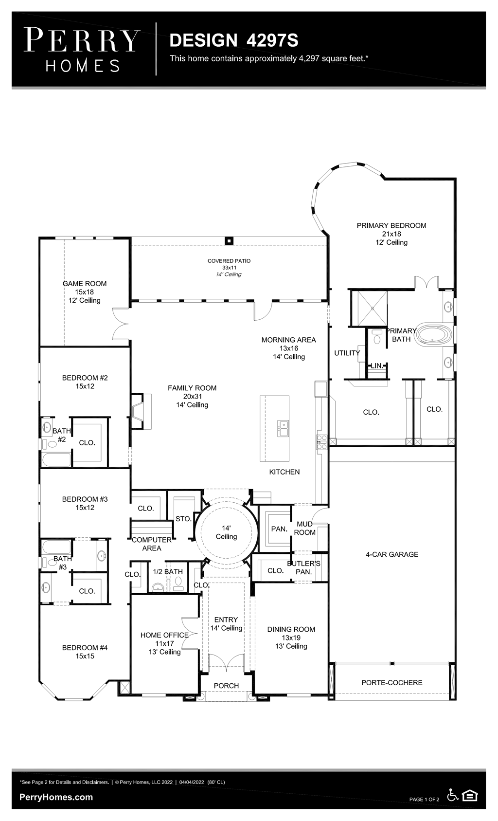 Floor Plan for 4297S