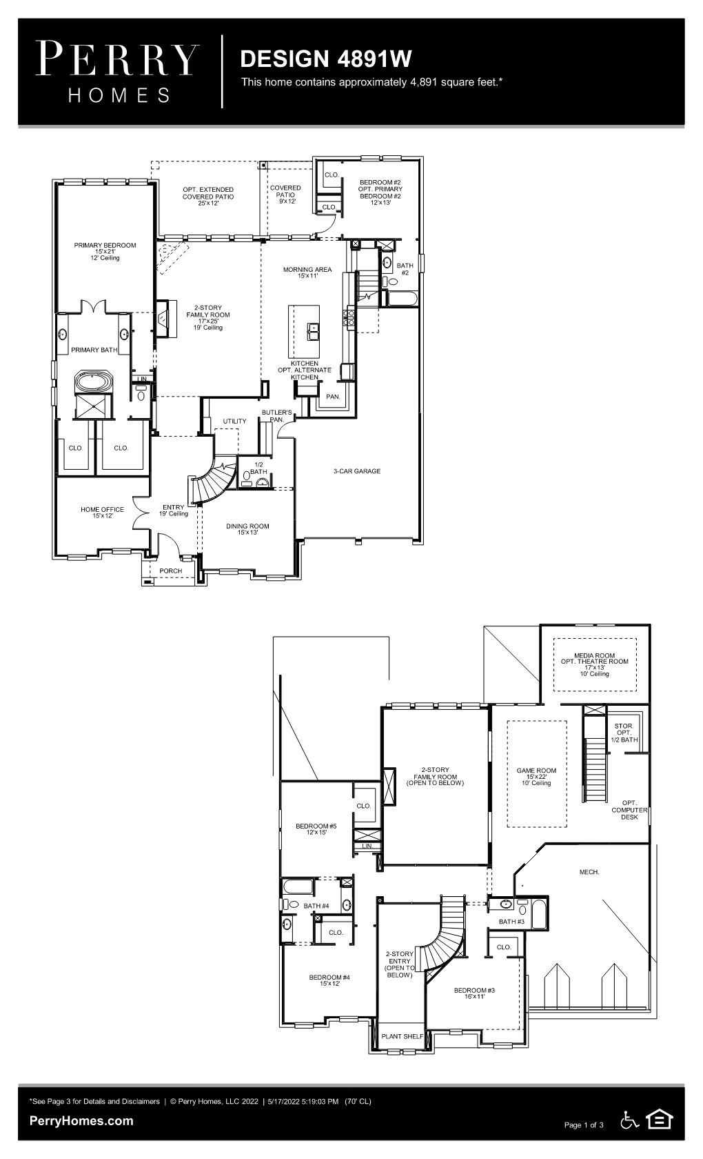Floor Plan for 4891W
