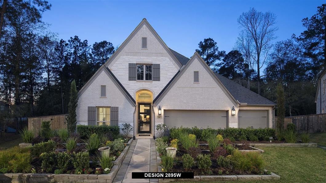 Model Home Design 2895W Exterior
