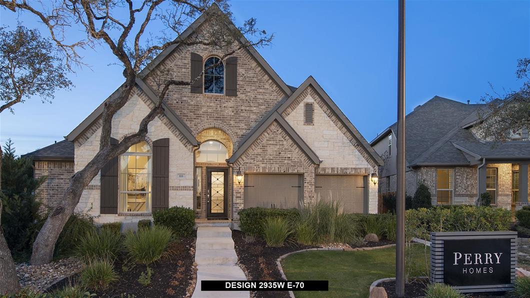 Model Home Design 2935W Exterior