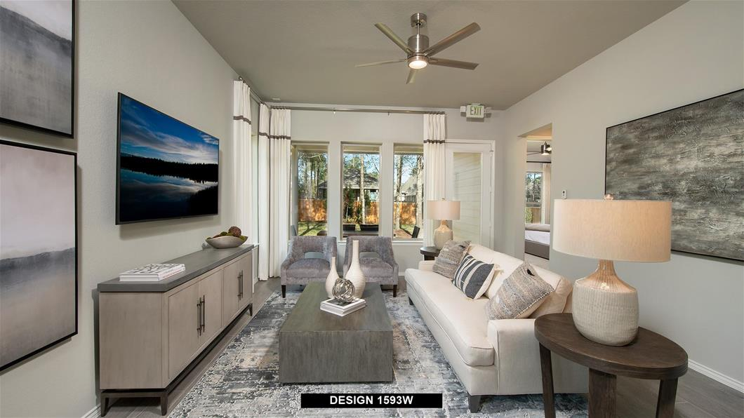 Model Home Design 1593W Interior