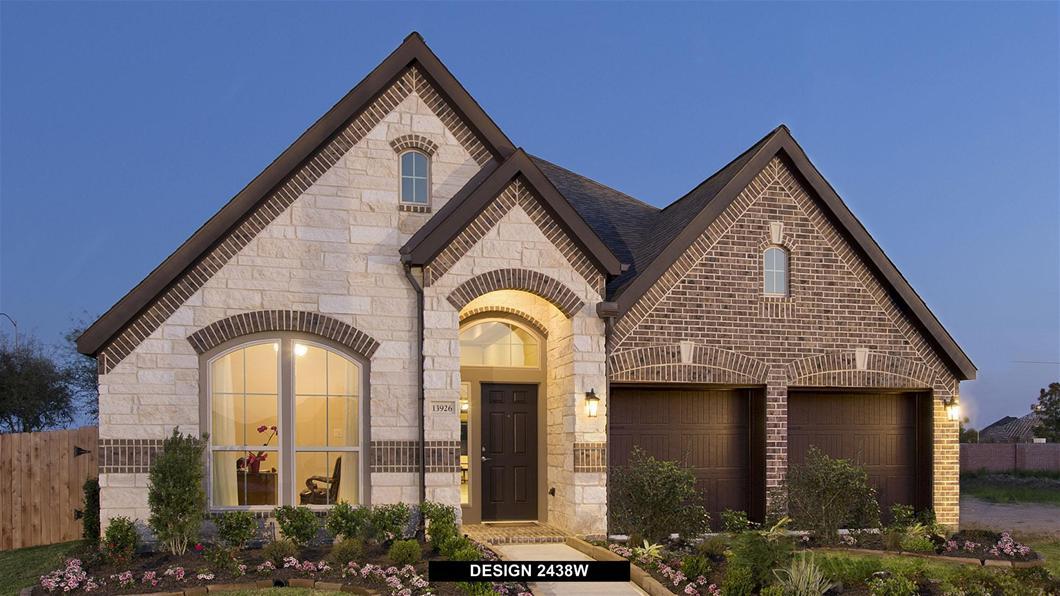 Model Home Design 2438w Exterior