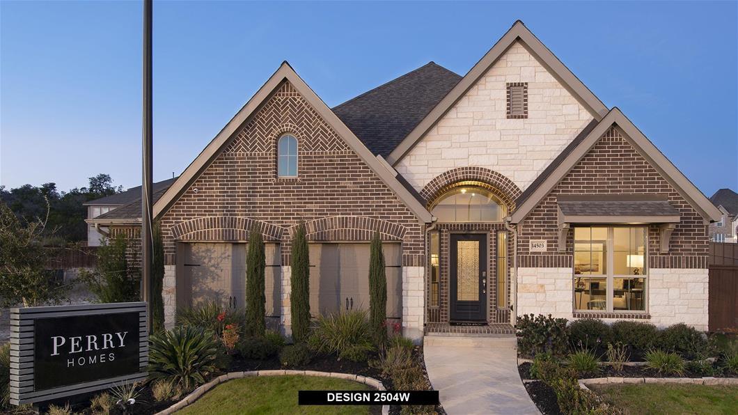 Model Home Design 2504W Exterior