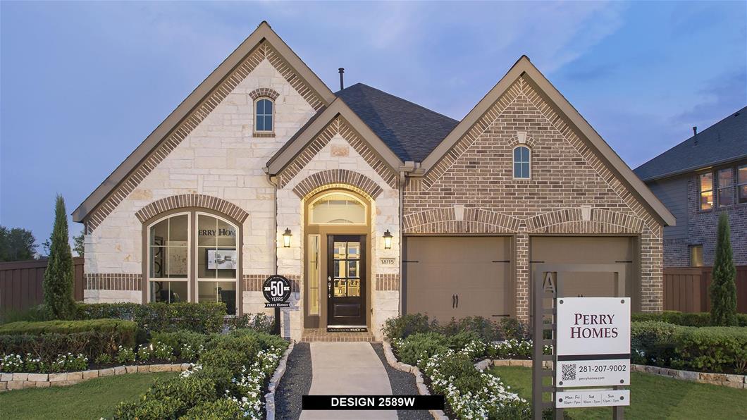 Model Home Design 2589W Exterior