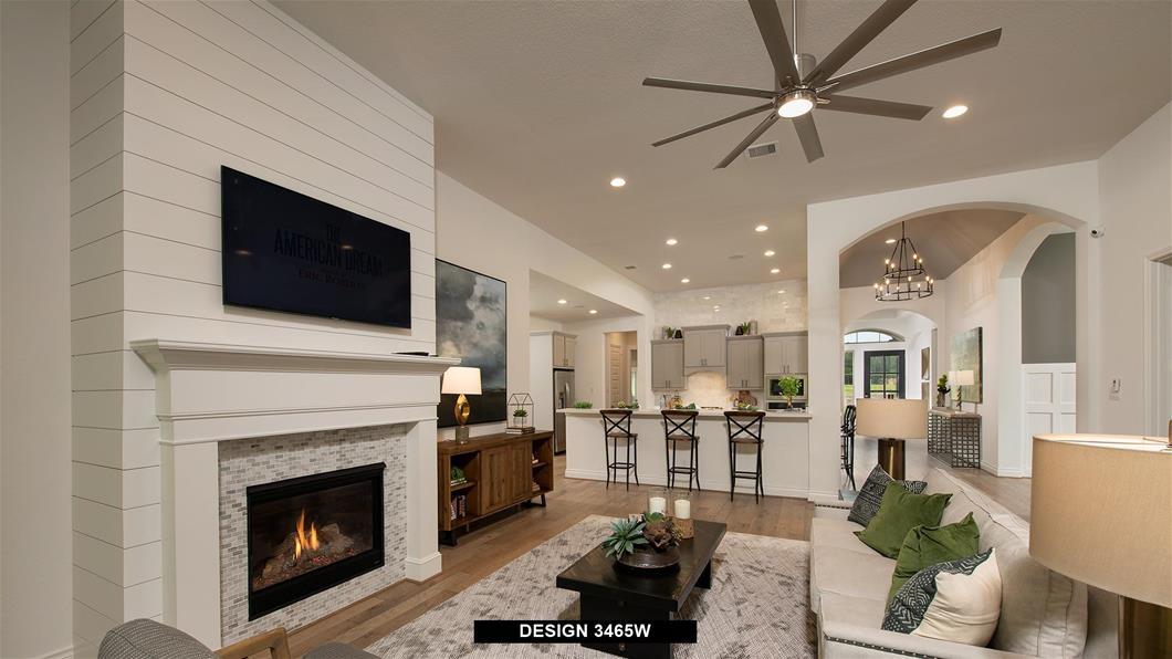 Model Home Design 3465W Interior