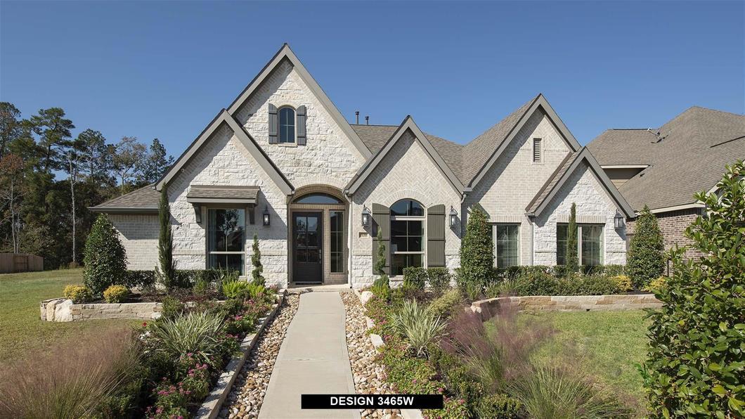 Model Home Design 3465W Exterior