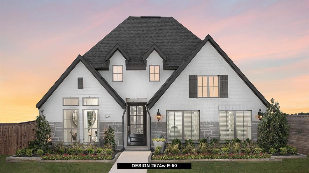 Model Home Design 2574W Exterior
