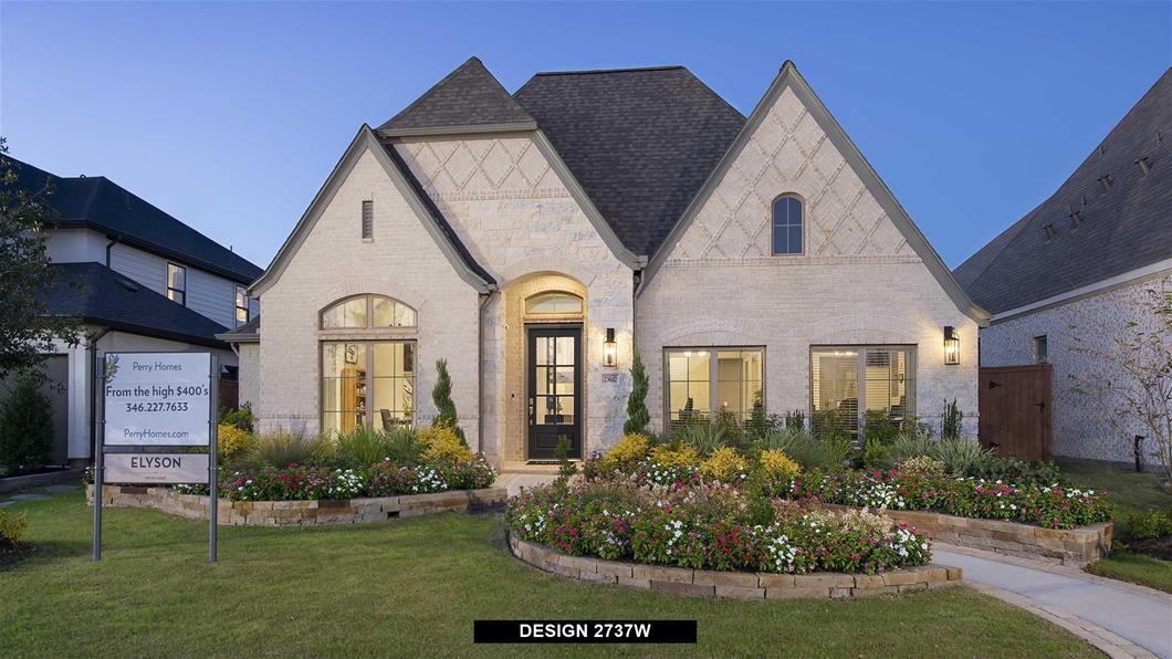 Model Home Design 2737W Exterior