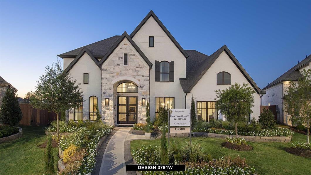 Model Home Design 3791W Exterior