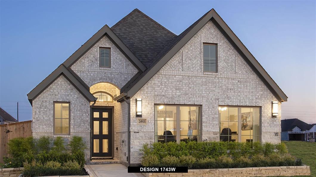 Model Home Design 1743W Exterior