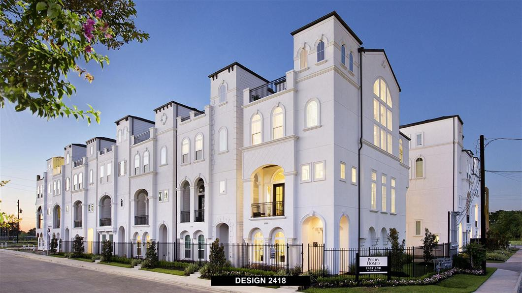 East End on the Bayou Townhomes  From the $350s / 1,800 - 2,500 Sq. Ft.