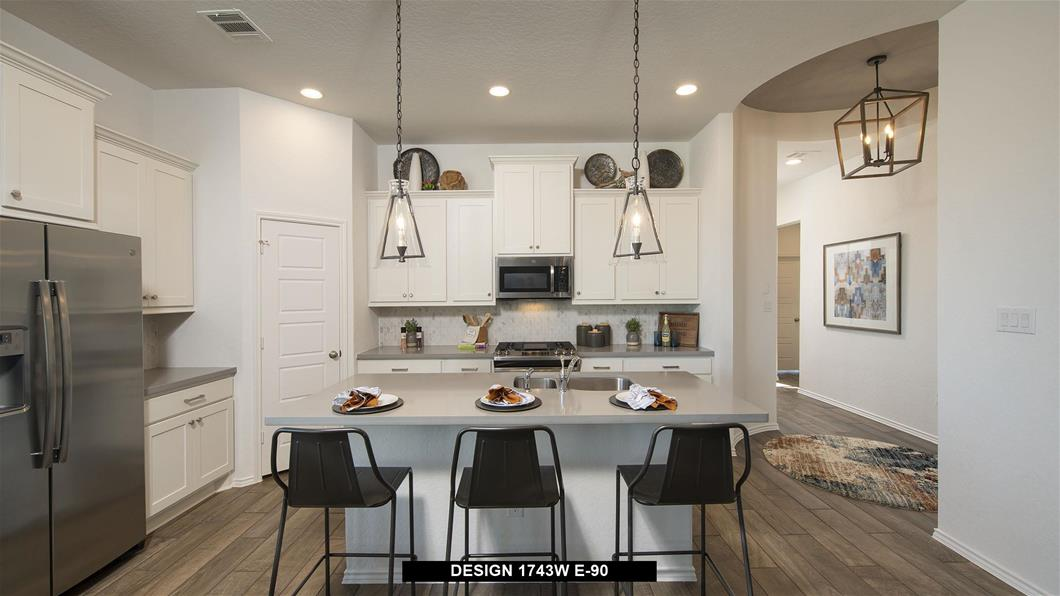 Model Home Design 1743W Interior