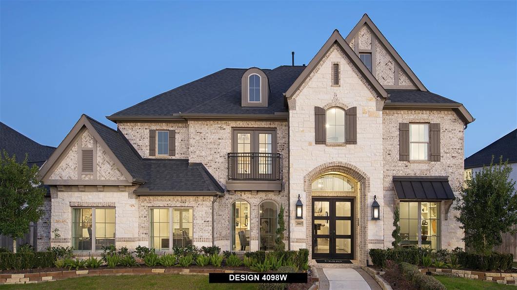 Model Home Design 4098W Exterior