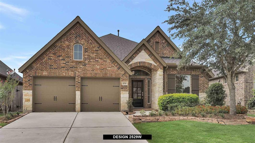 Model Home Design 2529W Exterior