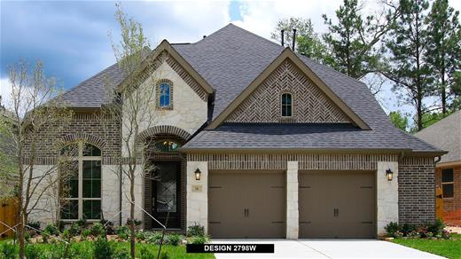 New Home Design, 2,798 sq. ft., 4 bed / 3.5 bath, 2-car garage
