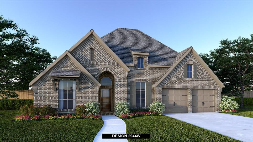 New Home Design, 2,944 sq. ft., 4 bed / 3.5 bath, 3-car garage