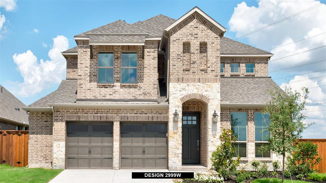 New Home Design, 2,999 sq. ft., 4 bed / 3.5 bath, 3-car garage