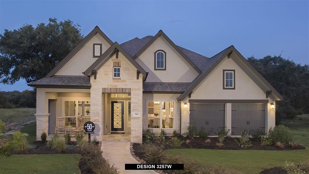 Model Home Design 3257W Exterior