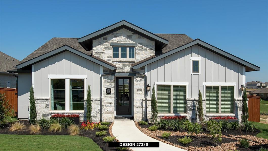 Model Home Design 2738S Exterior
