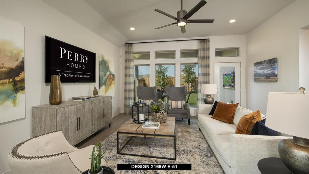 Model Home Design 2169W Interior