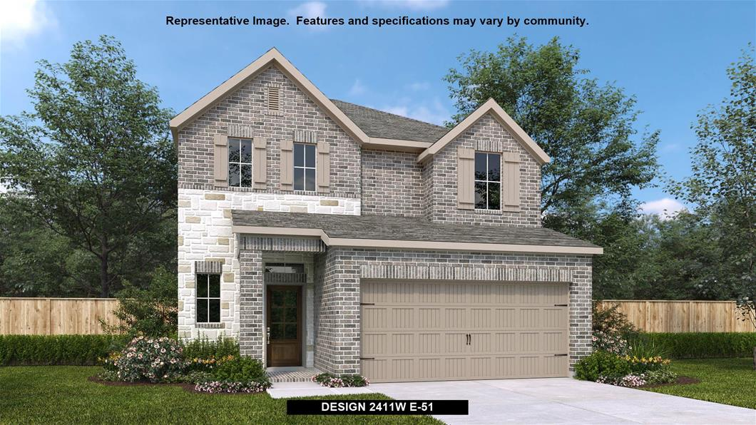New Home Design, 2,411 sq. ft., 3 bed / 2.5 bath, 2-car garage