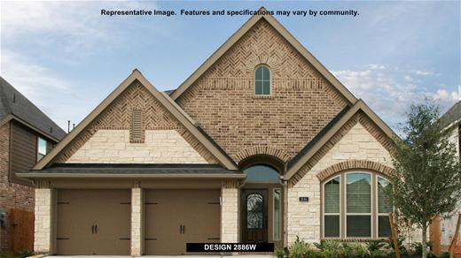 New Home Design, 2,886 sq. ft., 4 bed / 3.0 bath, 2-car garage