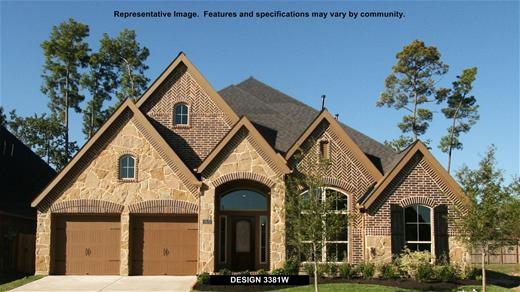 New Home Design, 3,381 sq. ft., 4 bed / 3.0 bath, 3-car garage