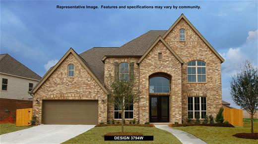 New Home Design, 3,794 sq. ft., 5 bed / 4.5 bath, 3-car garage