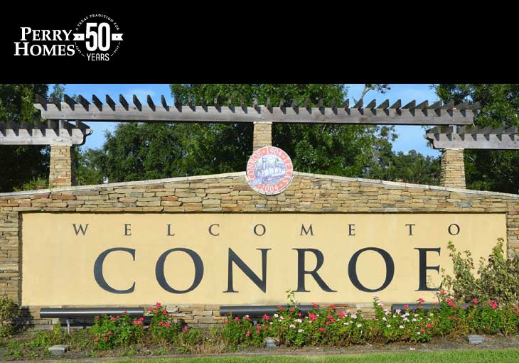 welcome to conroe city monument