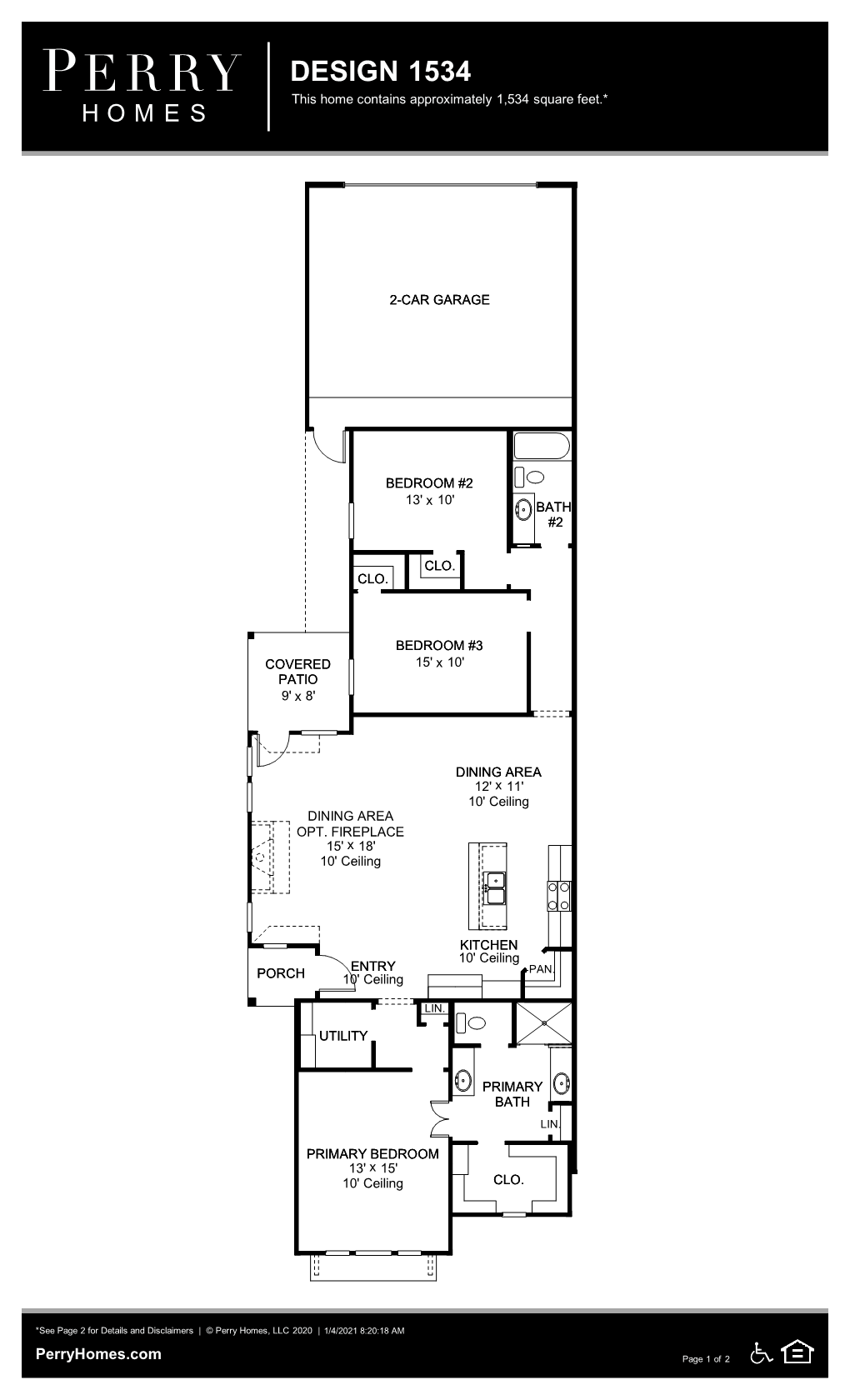 Floor Plan for 1534