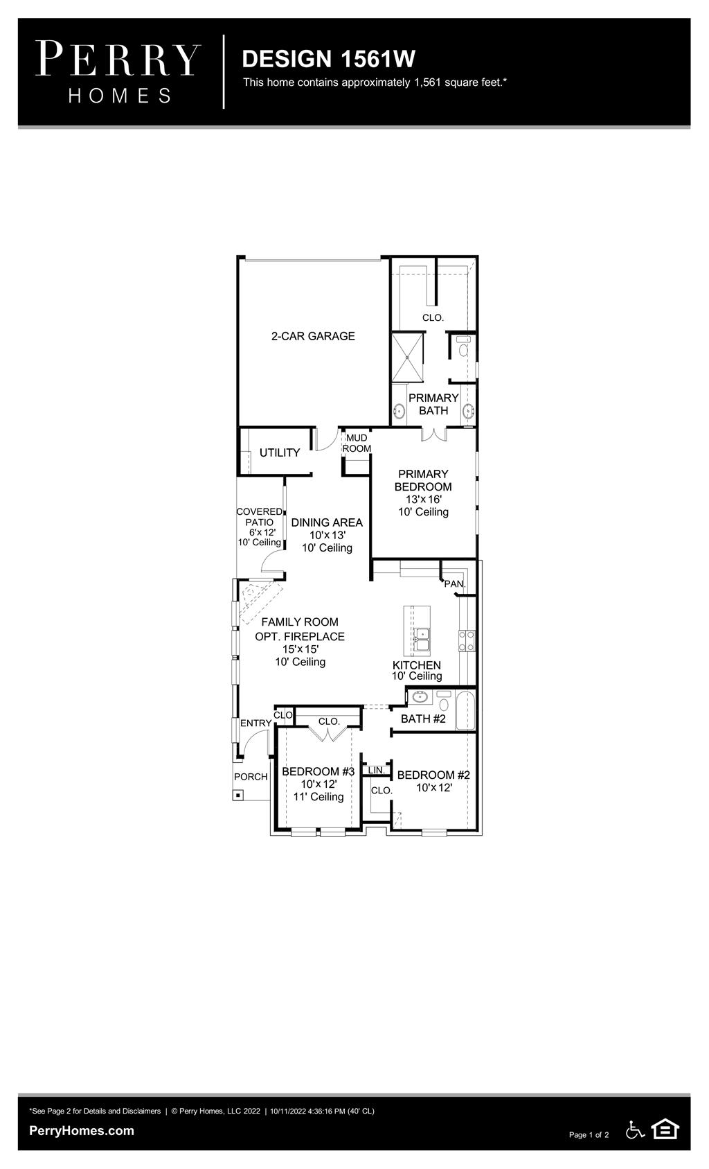 Floor Plan for 1561W