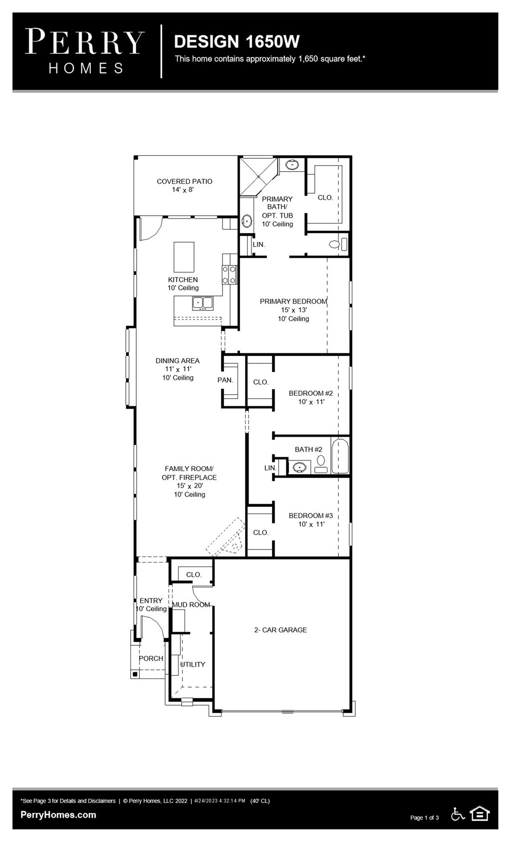Floor Plan for 1650W