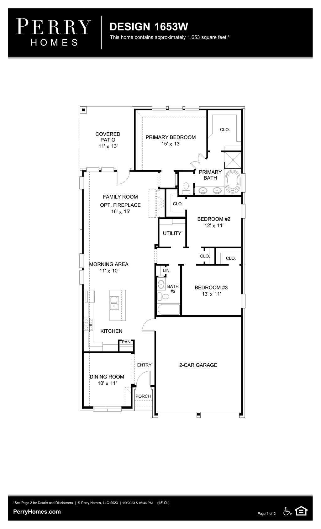 Floor Plan for 1653W
