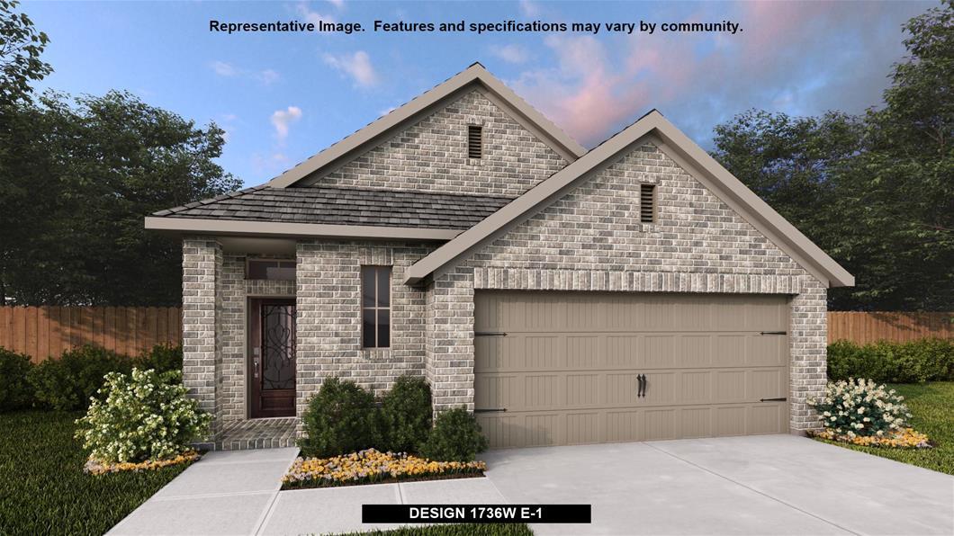 New Home Design, 1,736 sq. ft., 4 bed / 3.0 bath, 2-car garage