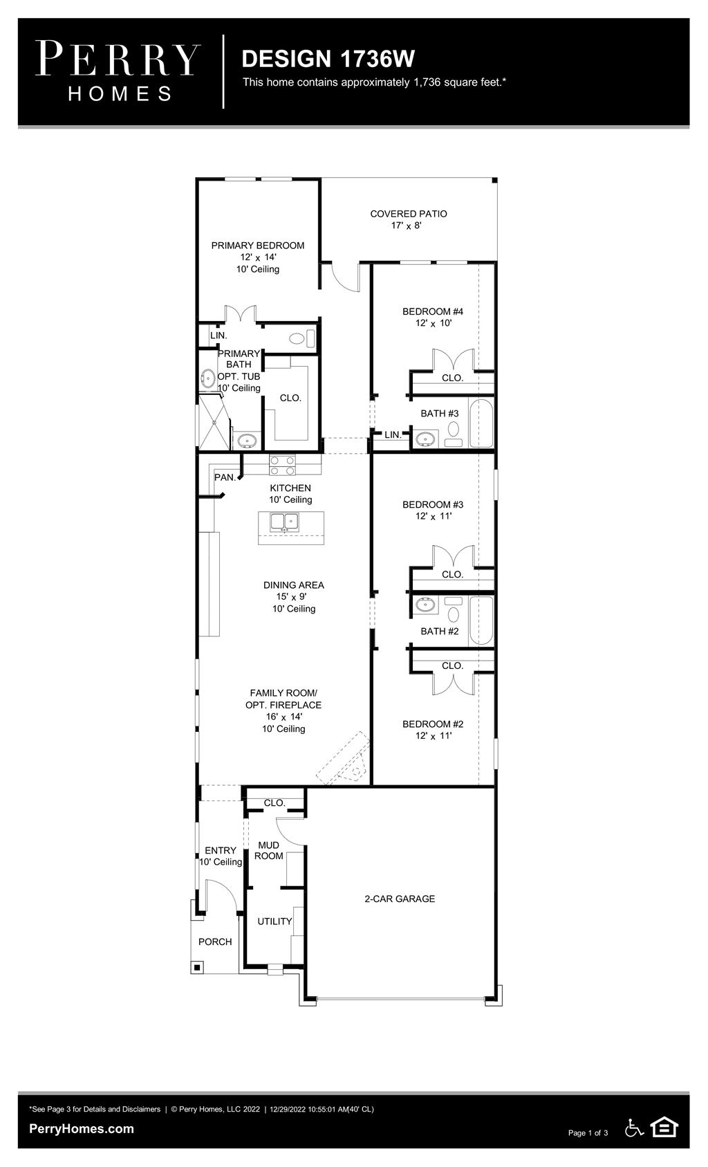Floor Plan for 1736W