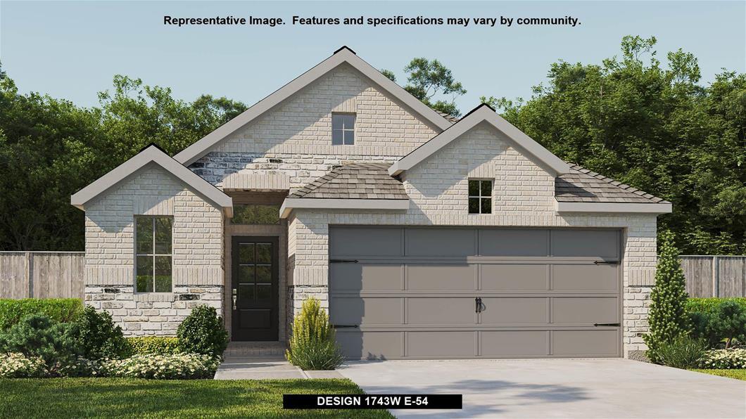 New Home Design, 1,743 sq. ft., 3 bed / 2.5 bath, 2-car garage