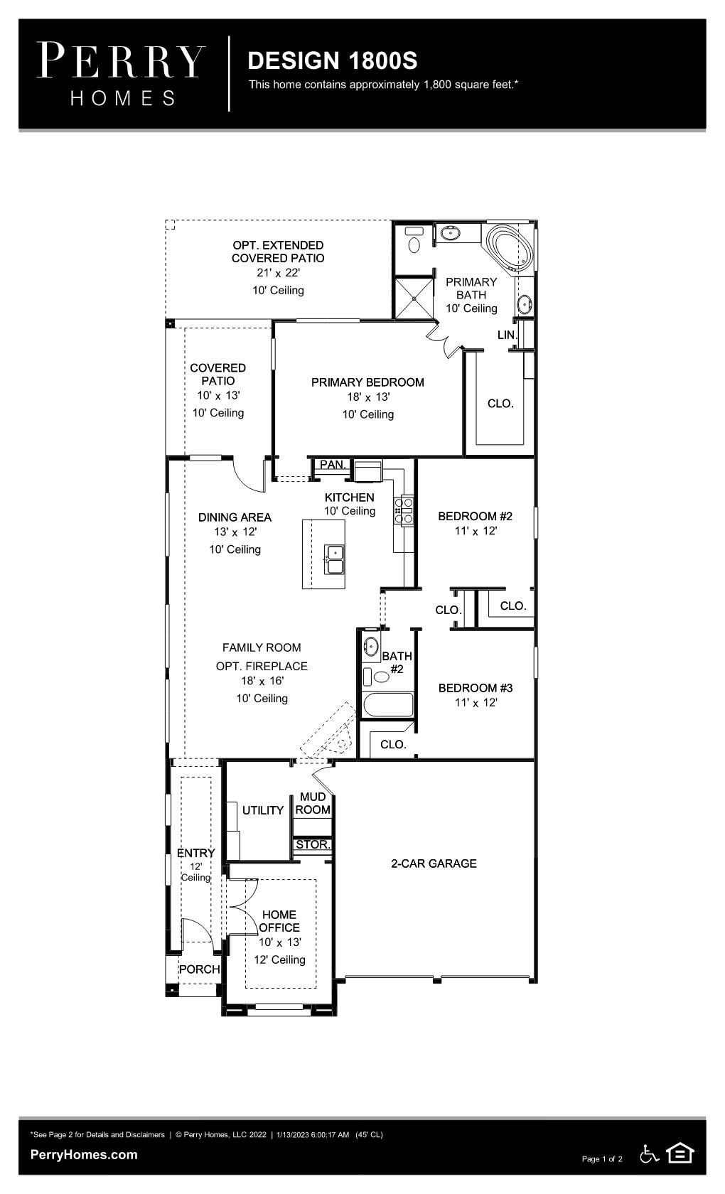 Floor Plan for 1800S