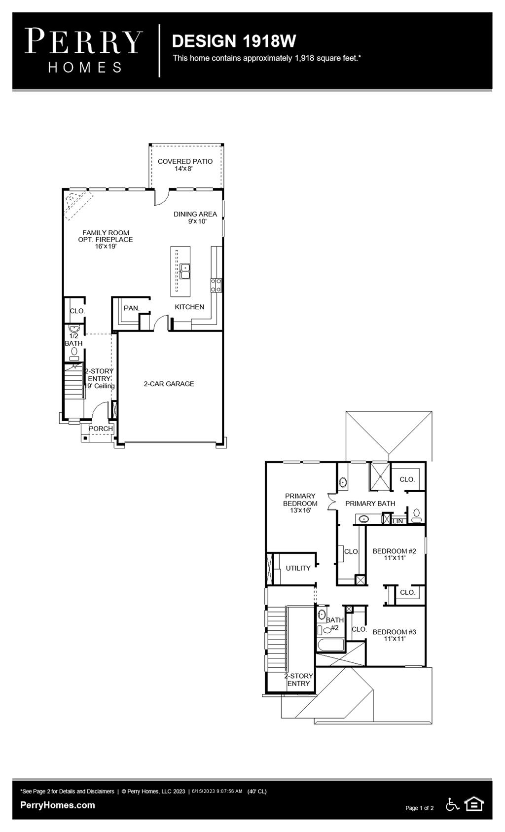 Floor Plan for 1918W
