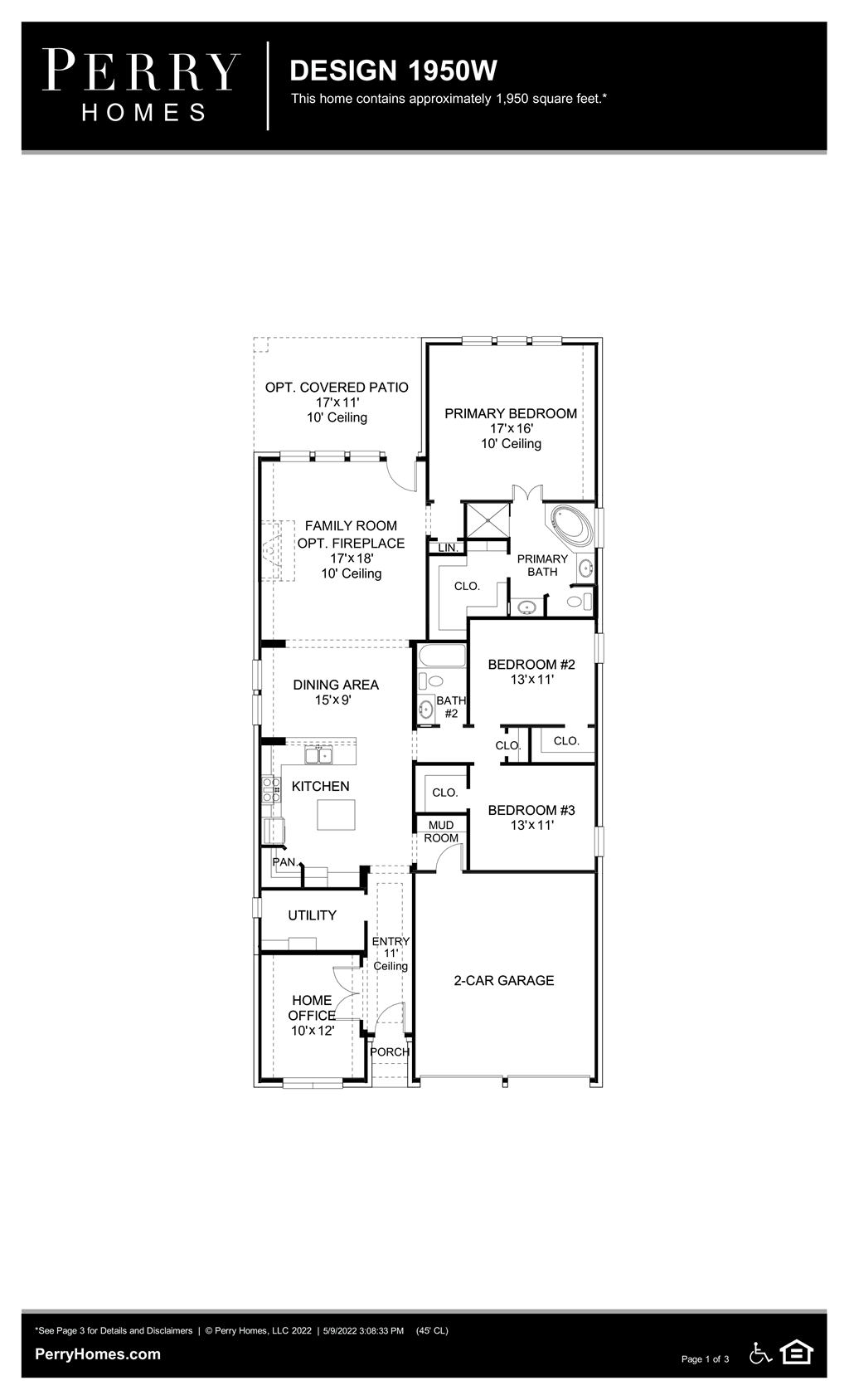 Floor Plan for 1950W